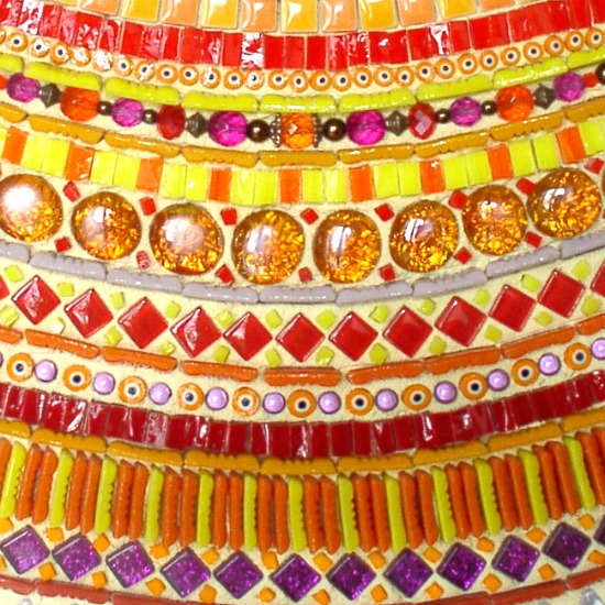 Mosaique contemporaine style ethnique