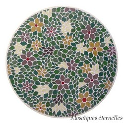 Table mosaique fleurie